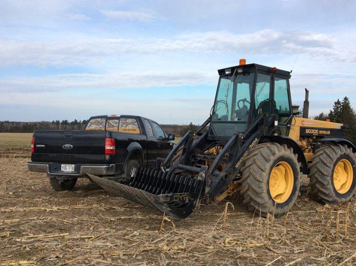 Fourche CYR : gros tracteur