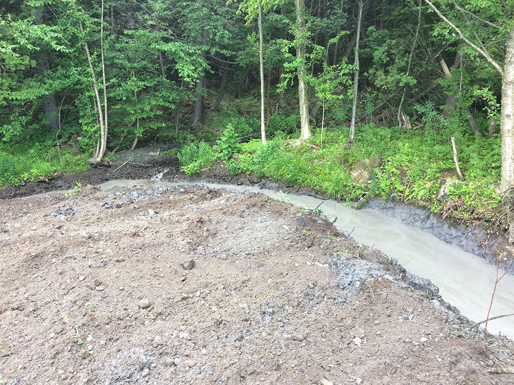 Fourche CYR : nettoyage fossé